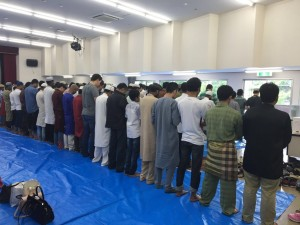 Eid prayer in Osaka